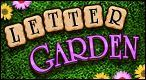 Letter Garden: Link letters and clear space for flowers to grow!
